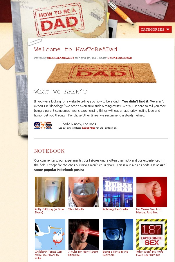 How to Be a Dad - website
