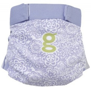 gDiaper fancy flower cover blue