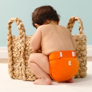 Orange gDiaper baby